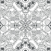 Seamless Pattern With Two Symm...