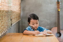 Asian Children Drawing