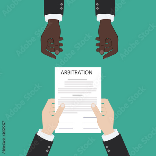 Photo arbitration law dispute legal resolution conflict