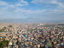 Aerial View Of Kathmandu Valley.