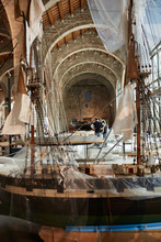Sailing Boat Being Restored In...