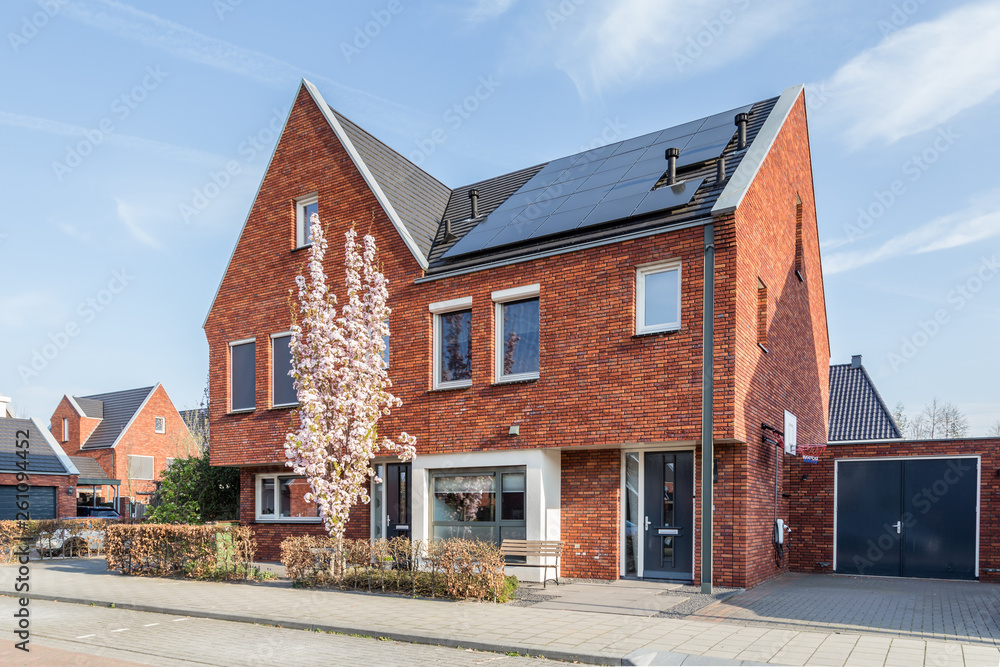 Fototapety, obrazy: Modern Dutch housesn