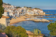 Picturesque landscape from a small Spanish village in Costa Brava coastal, Calella de Palafrugell
