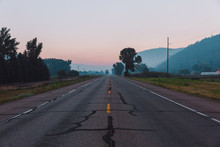 Smoky Valley Blue Hour Road