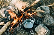 Boiling Water On A Campfire