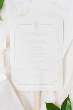 White And Grey Wedding Program...