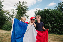 Little Boys With French Flag B...