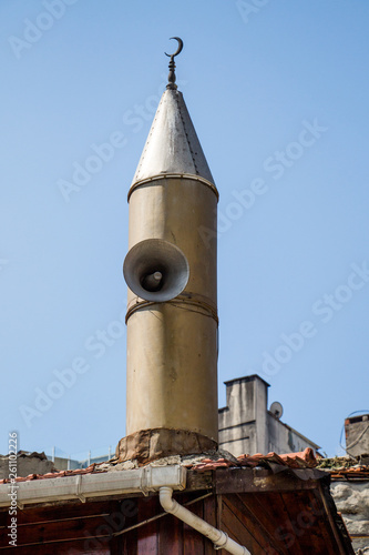 Fotografia  Minaret of Ottoman Mosques in view