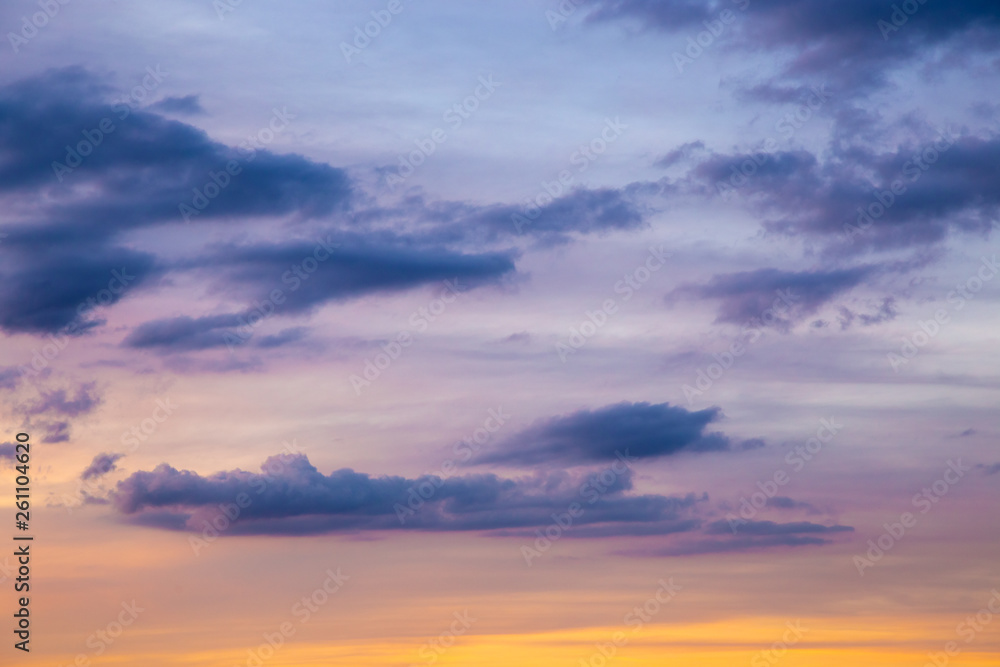 Fototapety, obrazy: Dramatic clouds in the sky on a late afternoon