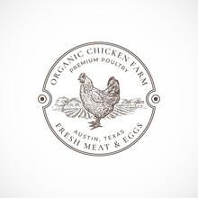Organic Chicken Farm Framed Re...