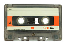 Old Cassette Tape Isolated On ...