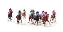 Horse Jockey Racing Isolated O...