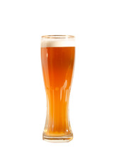 Light Beer In A Tall Glass Gla...