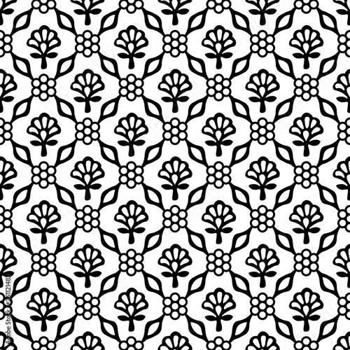 woodblock-drukowal-bezszwowego-etnicznego-kwiecistego-adamaszka-wzor-tradycyjny-orientalny-ornament-indie-kaszmir-geometryczne-kwiaty-i-liscie-czarne-na-bialym-tle-projekt-tekstylny