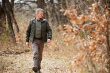Forest Ranger On A Walk