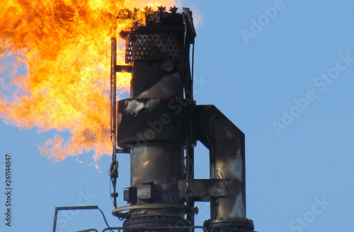 Torch system on an oil field Tapéta, Fotótapéta