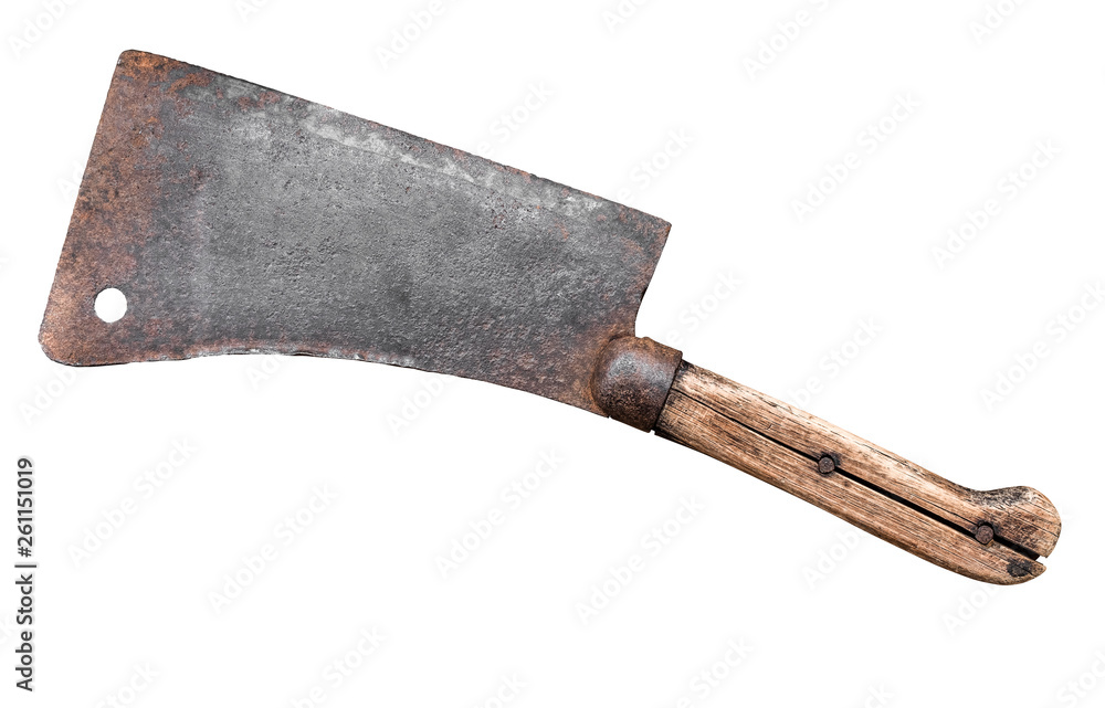 Fototapety, obrazy: Isolated Meat Cleaver Or Hatchet