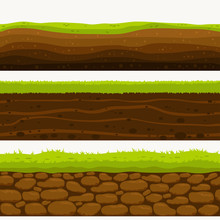 Soil Seamless Layers Ground La...