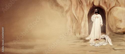 Obraz na płótnie Resurrection. Christian Easter background