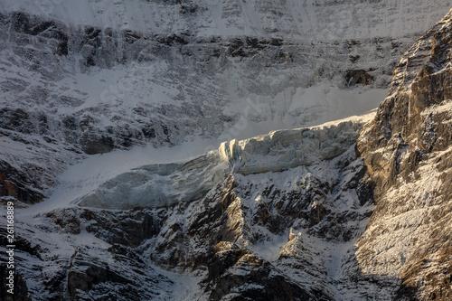 Fotografia, Obraz  Snow Mountain, Massive Glacier, Wall of Ice, Mountain Cliff Face covered in ice,