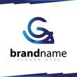G Letter Line art logo template