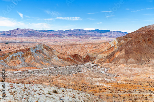 Fotografie, Obraz  View of colorful badlands in Anza Borrego Desert State Park