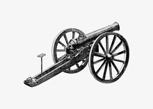 German Battlefield Cannon