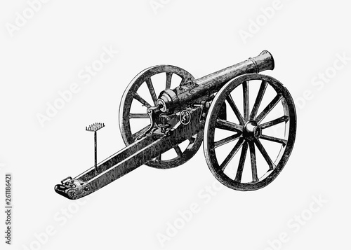 Canvas German battlefield cannon