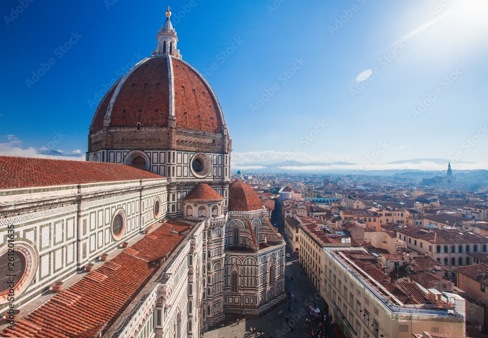 Fototapety, obrazy: View of the Cathedral Santa Maria del Fiore in Florence, Italy