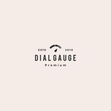 Modern Dial Gauge Logo Vector ...
