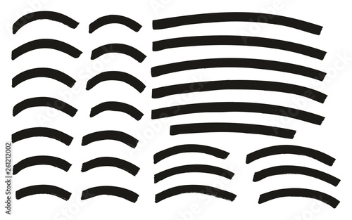 Fotografía Tagging Marker Medium Curved Lines High Detail Abstract Vector Background Set 14