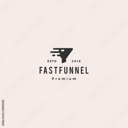 Photo  fast quick funneling logo icon vector illustration