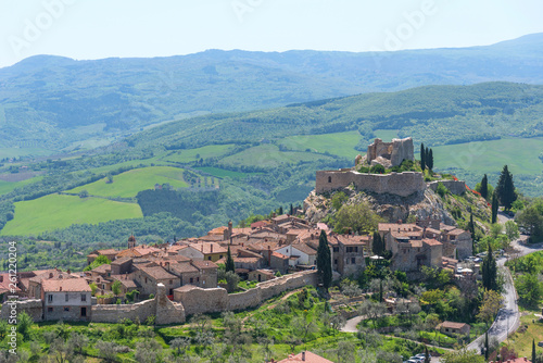 Fotografie, Obraz  Amazing panoramic view of the Castiglione d'Orcia. Italy