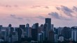 Timelapse of Sunset Colorful Clouds Singapore Skyline 4K