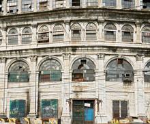 Facade Of An Old Spanish Building In Binondo, Manila