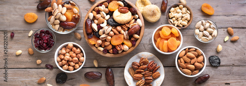 Fototapeta Mixed nuts and dried fruits obraz