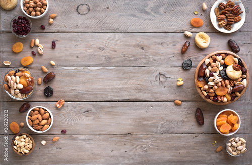 Fototapeta Mixed nuts and dried fruits