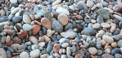 Pebbles by the sea Wallpaper Mural
