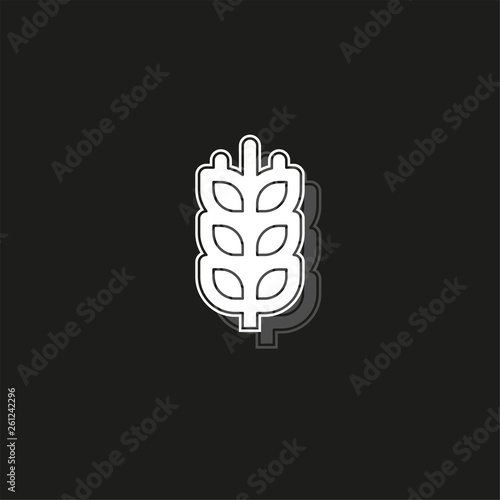 Gluten free icon, Gluten free symbol - healthy and organic