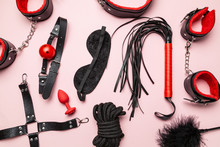 Set Of Erotic Toys For BDSM. T...