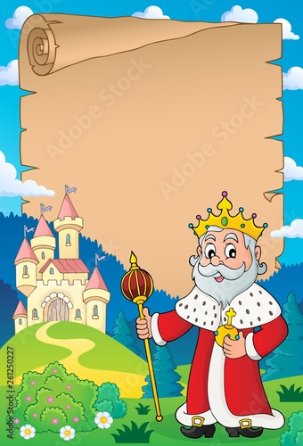 Foto op Canvas Voor kinderen King topic parchment 4