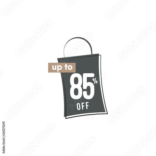 Fotografia  Discount up to 85% off Vector Template Design Illustration