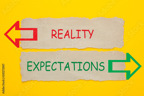 Fotografie, Obraz  Reality Expectations Concept