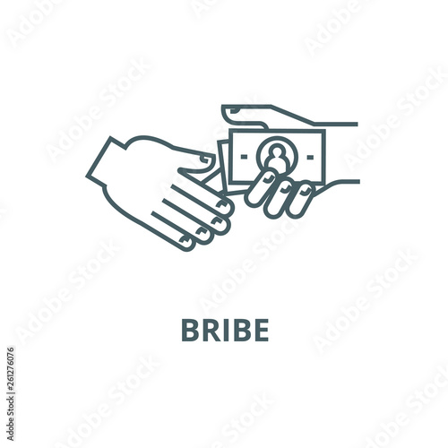 Fotografía  Bribe,gratuity,pension line icon, vector