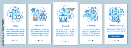 Photo  HR baseline skills onboarding mobile app page screen vector template