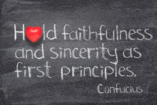 Sincerity As First Confucius