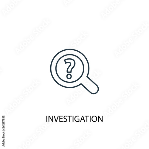 investigation concept line icon  Simple element illustration