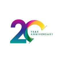 20 Year Anniversary Vector Tem...