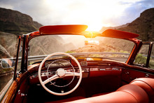 Summer Car On Road And Sunset ...