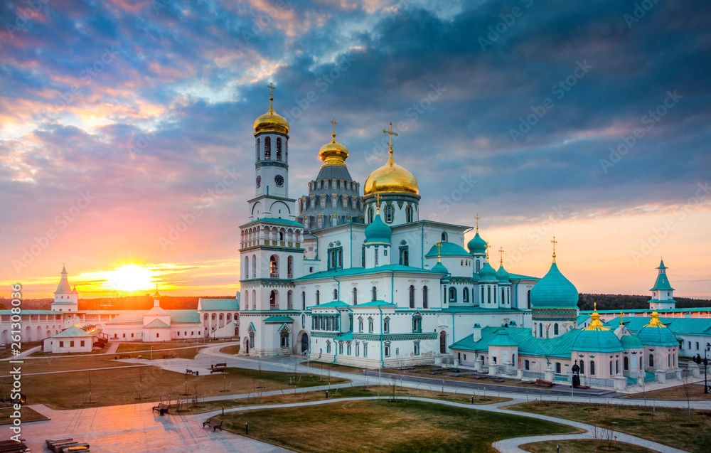 Fototapety, obrazy: Resurrection Cathedral of New Jerusalem Monastery at sunset, Russia